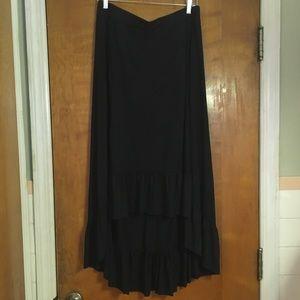 NY&Co. hi-low ruffle maxi skirt